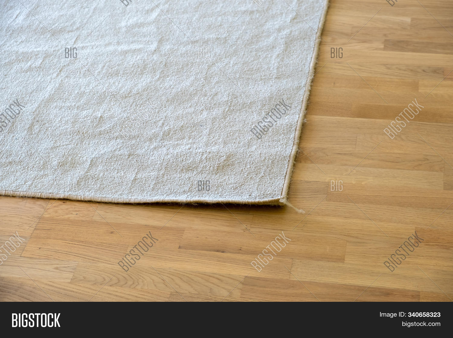 Close Crumpled Carpet Image Photo