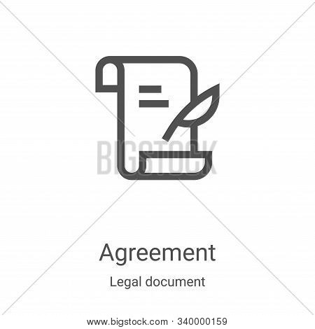 agreement icon isolated on white background from legal document collection. agreement icon trendy an