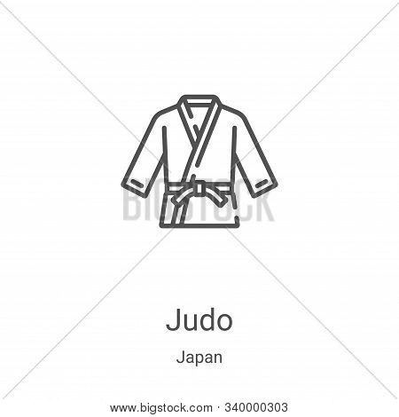 judo icon isolated on white background from japan collection. judo icon trendy and modern judo symbo