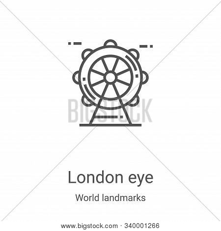 london eye icon isolated on white background from world landmarks collection. london eye icon trendy