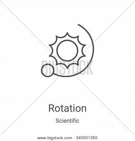 rotation icon isolated on white background from scientific collection. rotation icon trendy and mode