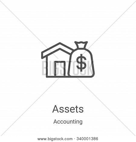 assets icon isolated on white background from accounting collection. assets icon trendy and modern a