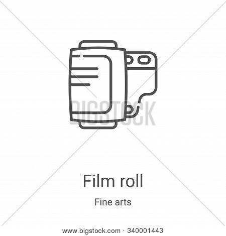 film roll icon isolated on white background from fine arts collection. film roll icon trendy and mod