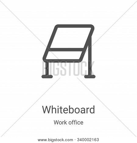 whiteboard icon isolated on white background from work office collection. whiteboard icon trendy and