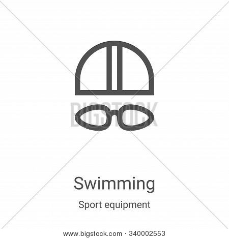 swimming icon isolated on white background from sport equipment collection. swimming icon trendy and