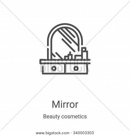 mirror icon isolated on white background from beauty cosmetics collection. mirror icon trendy and mo