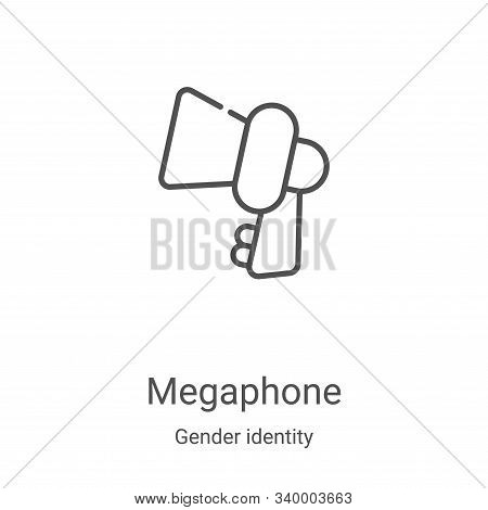 megaphone icon isolated on white background from gender identity collection. megaphone icon trendy a