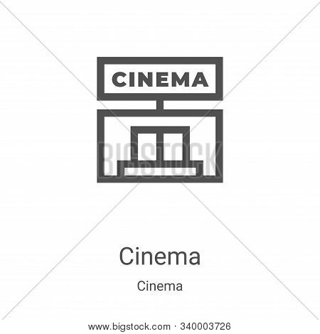cinema icon isolated on white background from cinema collection. cinema icon trendy and modern cinem