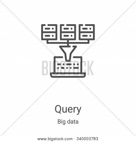 query icon isolated on white background from big data collection. query icon trendy and modern query