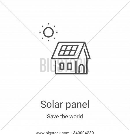 solar panel icon isolated on white background from save the world collection. solar panel icon trend