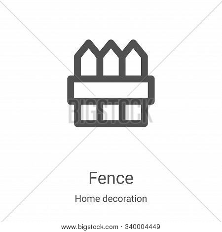 fence icon isolated on white background from home decoration collection. fence icon trendy and moder