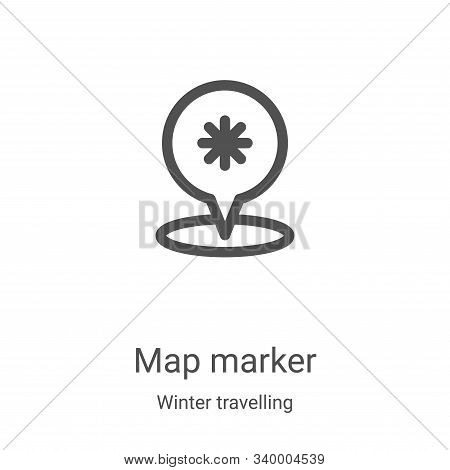 map marker icon isolated on white background from winter travelling collection. map marker icon tren