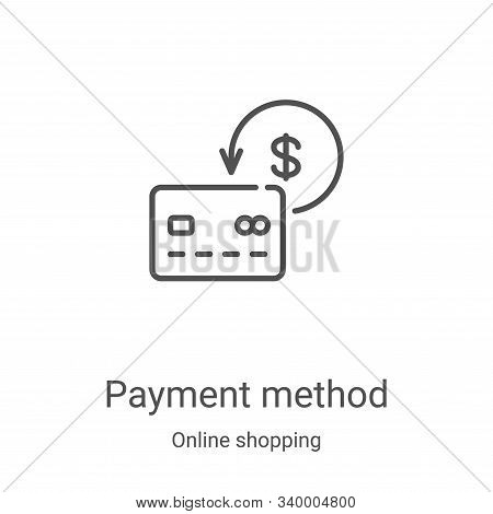 payment method icon isolated on white background from online shopping collection. payment method ico