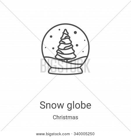 snow globe icon isolated on white background from christmas collection. snow globe icon trendy and m