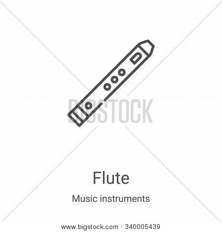 flute icon isolated on white background from music instruments collection. flute icon trendy and mod