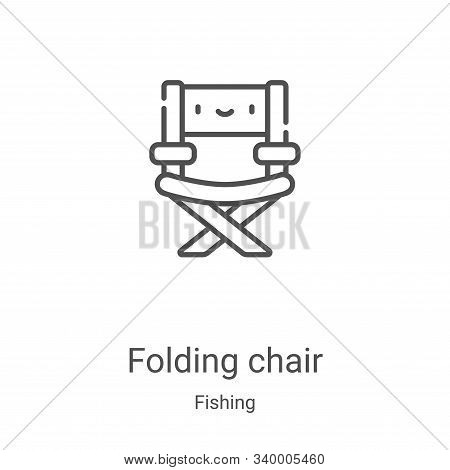 folding chair icon isolated on white background from fishing collection. folding chair icon trendy a