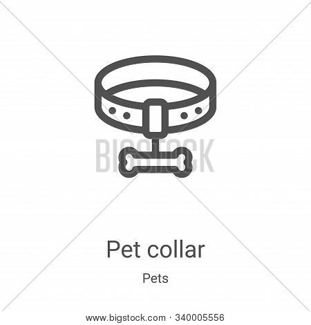 pet collar icon isolated on white background from pets collection. pet collar icon trendy and modern