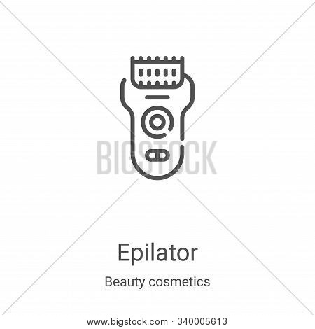 epilator icon isolated on white background from beauty cosmetics collection. epilator icon trendy an