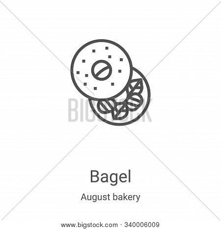 bagel icon isolated on white background from august bakery collection. bagel icon trendy and modern