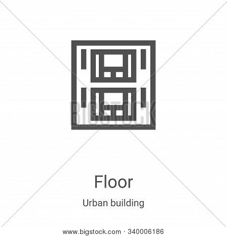 floor icon isolated on white background from urban building collection. floor icon trendy and modern