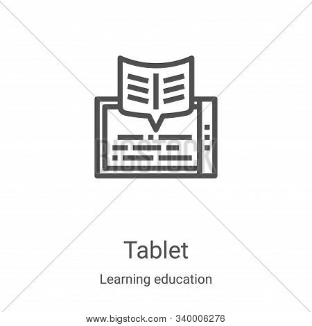 tablet icon isolated on white background from learning education collection. tablet icon trendy and