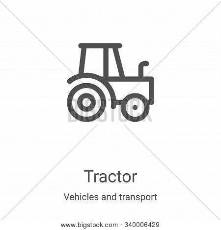 tractor icon isolated on white background from vehicles and transport collection. tractor icon trend