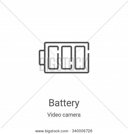 battery icon isolated on white background from video camera collection. battery icon trendy and mode