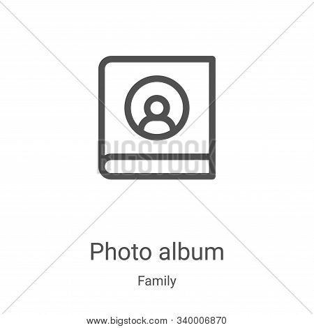 photo album icon isolated on white background from family collection. photo album icon trendy and mo