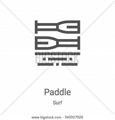 paddle icon isolated on white background from surf collection. paddle icon trendy and modern paddle