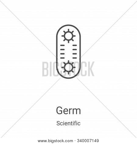 germ icon isolated on white background from scientific collection. germ icon trendy and modern germ
