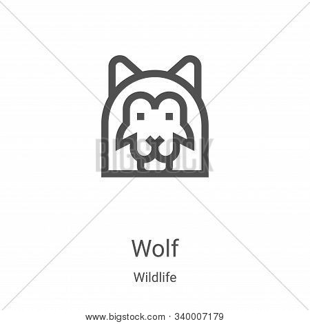 wolf icon isolated on white background from wildlife collection. wolf icon trendy and modern wolf sy