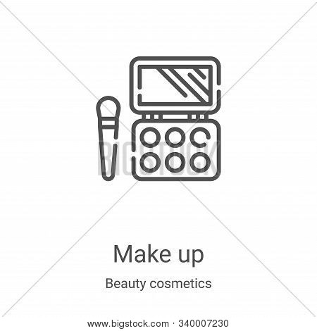 make up icon isolated on white background from beauty cosmetics collection. make up icon trendy and