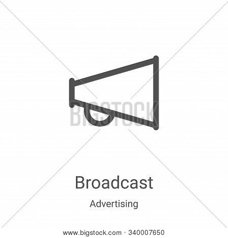 Broadcast icon isolated on white background from advertising collection. Broadcast icon trendy and m
