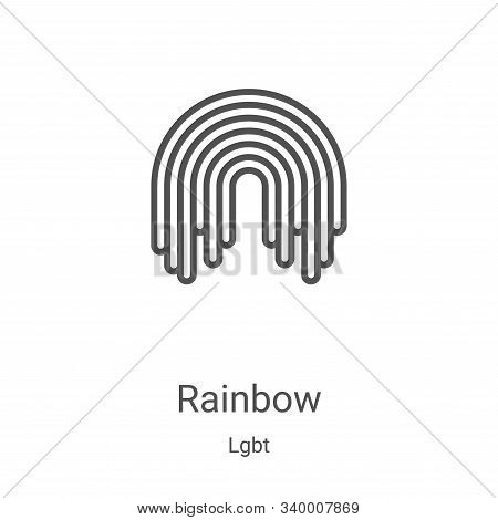 rainbow icon isolated on white background from lgbt collection. rainbow icon trendy and modern rainb
