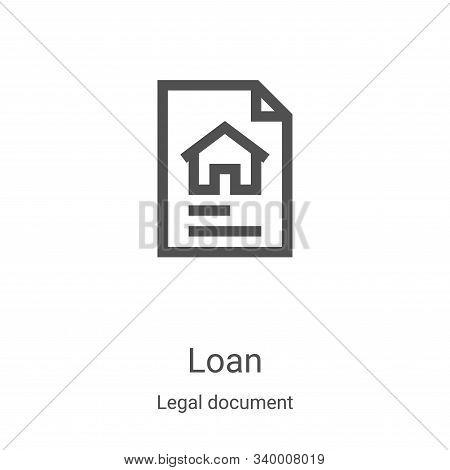 loan icon isolated on white background from legal document collection. loan icon trendy and modern l