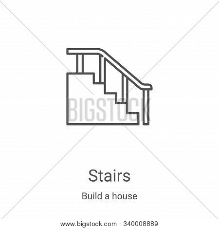 stairs icon isolated on white background from build a house collection. stairs icon trendy and moder