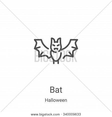 bat icon isolated on white background from halloween collection. bat icon trendy and modern bat symb