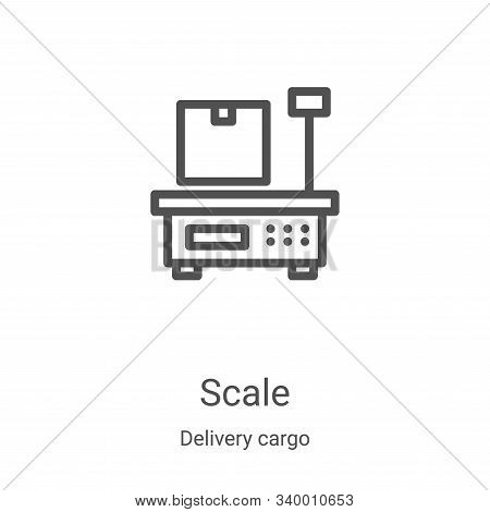 scale icon isolated on white background from delivery cargo collection. scale icon trendy and modern