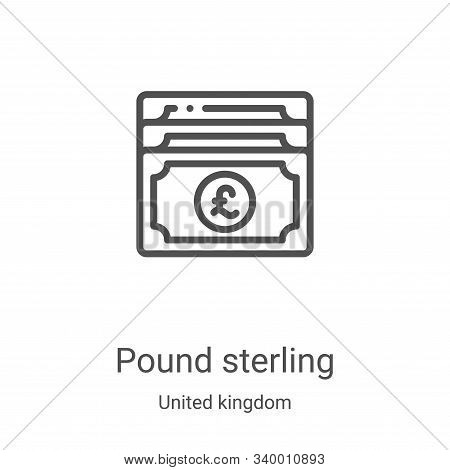 pound sterling icon isolated on white background from united kingdom collection. pound sterling icon