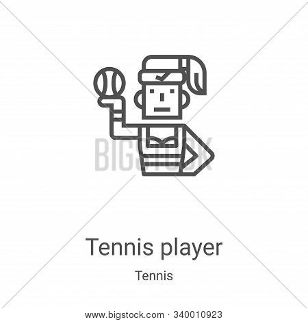 tennis player icon isolated on white background from tennis collection. tennis player icon trendy an