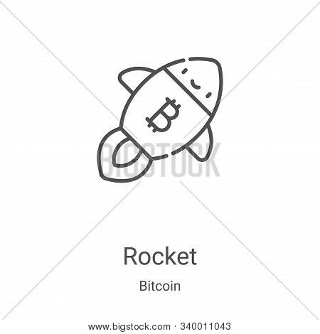 rocket icon isolated on white background from bitcoin collection. rocket icon trendy and modern rock