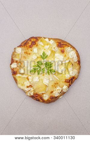 Italian Focaccia With Three Types Of Cheese And Parsley