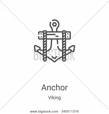 anchor icon isolated on white background from viking collection. anchor icon trendy and modern ancho