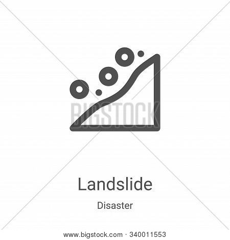 landslide icon isolated on white background from disaster collection. landslide icon trendy and mode