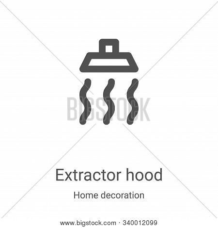 extractor hood icon isolated on white background from home decoration collection. extractor hood ico