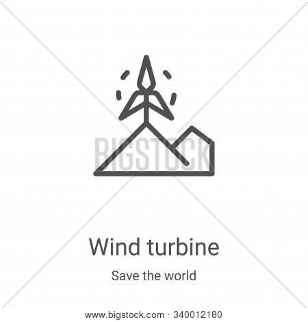 wind turbine icon isolated on white background from save the world collection. wind turbine icon tre
