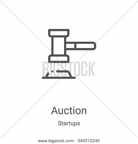 auction icon isolated on white background from startups collection. auction icon trendy and modern a
