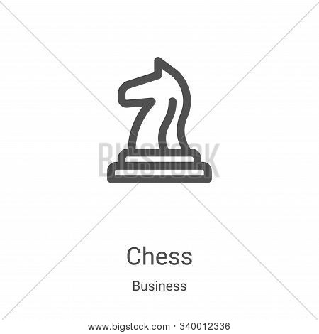 chess icon isolated on white background from business collection. chess icon trendy and modern chess