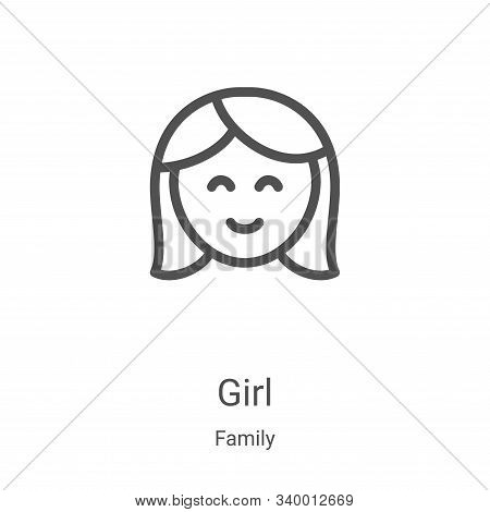 girl icon isolated on white background from family collection. girl icon trendy and modern girl symb