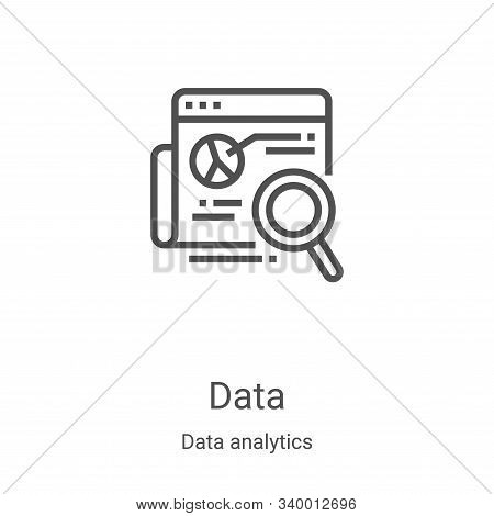 data icon isolated on white background from data analytics collection. data icon trendy and modern d